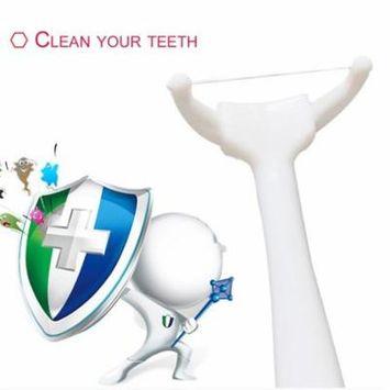 Reusable Dental Floss Rod Replaceable Head Dental Floss Pick With 20 Floss