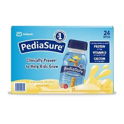 PediaSure Grow Gain Banana Nutrition Shake; 24 ct./8 fl. oz. - (Baby Food)