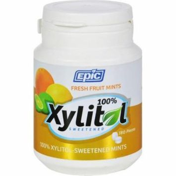 Epic Dental Mints - Fruit Xylitol Bottle - 180 Ct