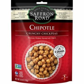 Saffron Road Chipotle Medium Crunchy Chickpeas, 6 Oz (Pack of 12)