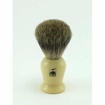 GBS 100% Pure Badger Bristle Shaving Brush (Ivory)