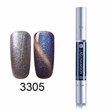 Gel Nail Polish Pen, Starry Cat Eye Effect Soak Off Gel Nail Polish Pen Glitter Color 3305