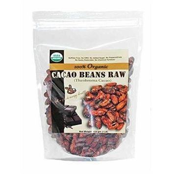 Indus Organics Raw Cacao Beans,3 Lb Bag, Sulfite Free, No Added Sugar, Premium Grade, High Purity, Freshly Packed