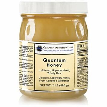 Quantum Honey - 2 Pounds in Glass - Untreated, Unpasteurized, Totally Raw Honey. Delicious, Legendary Honey from Canada's Wildlands