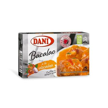 Cod Fish In Biscayan Sauce Canned 4oz Tin Pack Bacalao Vizcaina Gluten Free