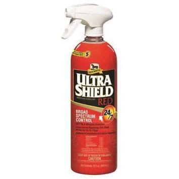 Absorbine UltraShield Red Broad Spectrum Control Equine Insect Repellent, 1 Qt