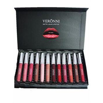 CL 12 in 1 Pack Waterproof Long Lasting Velvet Matte Liquid Lipstick Beauty Lip Gloss Lipstick
