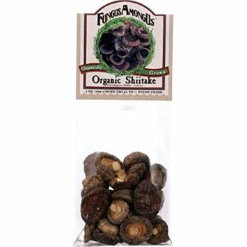 Fungus Among Us Mushrooms - Organic - Dried - Shiitake - 1 oz - case of 8 - 100% Organic - Gluten Free - Dairy Free - Yeast Free - Wheat Free-Vegan