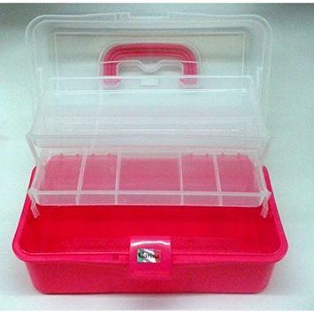 Pink Make Up / Nail Varnish Box With 2 Trays and Base