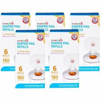 Munchkin Arm & Hammer Diaper Pail Snap with Seal and Toss Refill Bags - 30 Pack