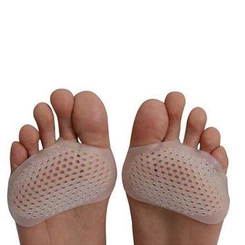 LIATEHAGE Women's Ball of Foot Cushions Metatarsal Pads Gel Forefoot Inserts Toe Straightener Transparent