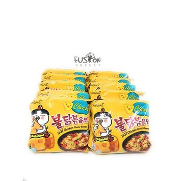 Fusion Select 2016 new Samyang Ramen / Spicy Chicken Roasted Stir Buldak Noodles Cheese Flavor, 4.93 oz (Pack of 10)