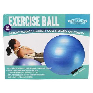 Exercise Ball Anti-Burst Blue - 55 cm.