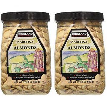 Kirkland eSybYD Marcona Almonds, Roasted and Seasoned with Sea Salt, 17.63 Ounce (2 Pack)