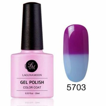 Gel Nail Polish, Thermal Color Change Soak Off UV LED Color Gel, Lagunamoon Gel Polish 5703