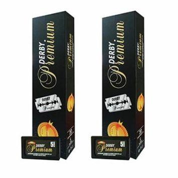 Derby Premium Super Stainless Double Edge Razor Blades, 200 Count