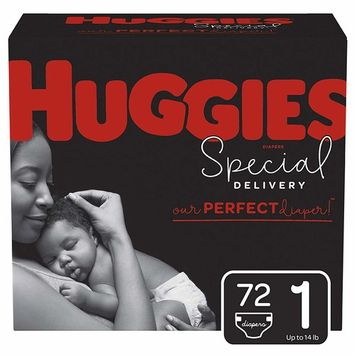 Huggies Special Delivery Hypoallergenic Baby Diapers, Size 1 (8-14 lbs.), 72 Count, Giga Jr. Pack