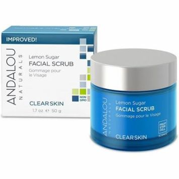 6 Pack - Andalou Naturals ClearSkin Facial Scrub, Lemon Sugar 1.70 oz