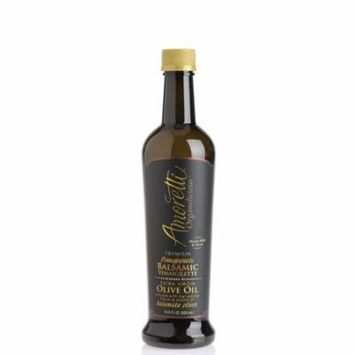 Amoretti Premium Pomegranate Balsamic Vinaigrette Blended with Extra Virgin Olive Oil Infused with the Natural Flavor & Aroma of Kalamata Olives - 500ml Bottle