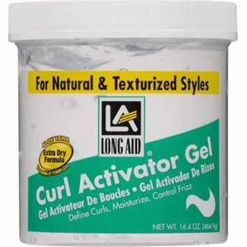 4 Pack - Long Aid Curl Activator Gel for Extra Dry Hair 16.4 oz
