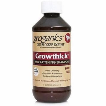 3 Pack - Groganics DHT Growthick Hair Fattening Shampoo 8 oz