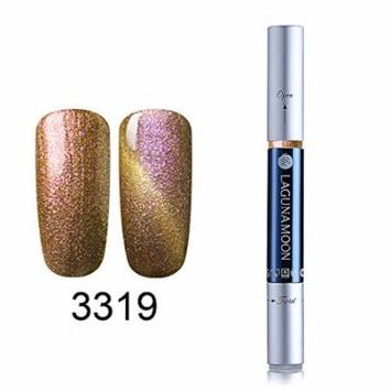 Gel Nail Polish Pen, Starry Cat Eye Effect Soak Off Gel Nail Polish Pen Glitter Color 3319
