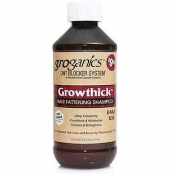 4 Pack - Groganics Growthick Hair Fattening Shampoo 8 oz