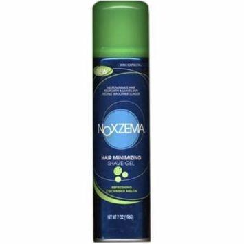 4 Pack - Noxzema Hair Minimizing Shave Gel, Refreshing Cucumber Melon 7 oz