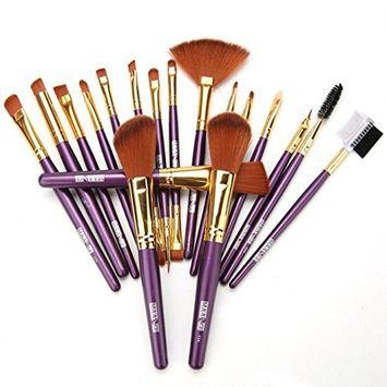 Eshion 19pcs Pro Makeup Brush Set Powder Foundation Eyeshadow Lip Brush Tool Kit