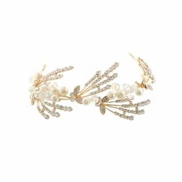 Gold Plating Metal Crystal Hair Band Headband
