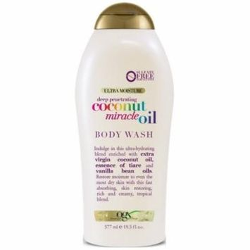 2 Pack - OGX Extra Creamy + Coconut Miracle Oil Ultra Moisture Body Wash 19.5 oz