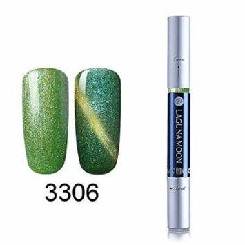 Gel Nail Polish Pen, Starry Cat Eye Effect Soak Off Gel Nail Polish Pen Glitter Color 3306