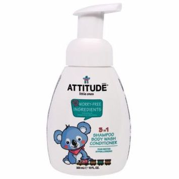 ATTITUDE, Little Ones, 3 in 1 Shampoo Body Wash Conditioner, Pear Nectar, 10 fl oz(pack of 1)