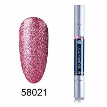 Gel Nail Polish Pen, Soak Off UV LED Color Gel, Lagunamoon Gel Polish 58022