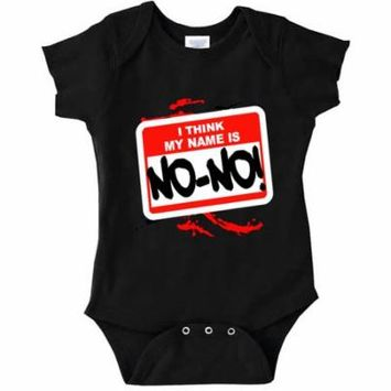 New Way A005 - Infant Baby Onesie Bodysuit I Think My Name Is No-No! 18M Black