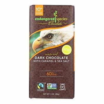 Endangered Species Chocolate Bar, Dark Chocolate Caramel Sea Salt - (Case of 12 - 3 oz)