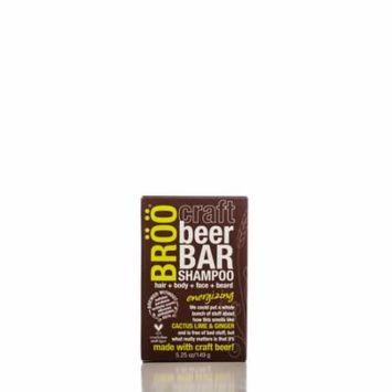 BROO Craft Beer Energizing Shampoo Bar, Hair and Body, 5.25 Oz