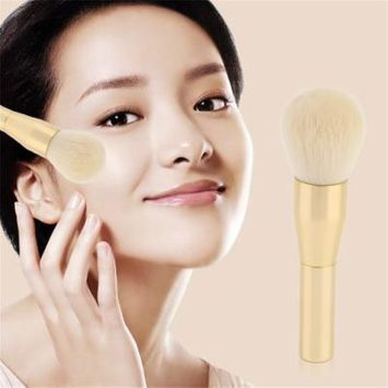 OUTAD Chemical Cilia Hair Metal Handle Professional Foundation Blender Powder Makeup Smooth Blusher Brush Flat Cosmetic Brushes Golden Tude