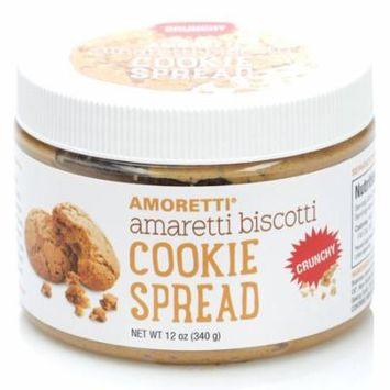 Amoretti Natural Crunchy Amaretti Biscotti Cookie Spread, 12 Ounce