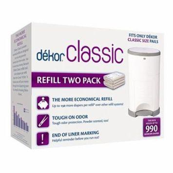 Diaper Dekor Classic Diaper Pail Liner Refills, 2 Count
