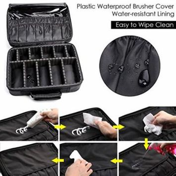 Zimtown Professional High-capacity Multilayer Portable Travel Makeup Bag with Shoulder Strap