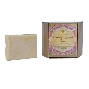 Ayana Wellness 'Kumkumadi Ayurvedic Facial' Bar Soap - Handcrafted Artisan Organic Soap | Improved Skin Complexion | All Natural Face Cleanser | Fancy Soaps Individually Wrapped & Ethically Made