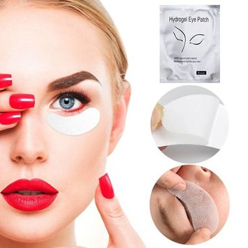 Eye Pads, Lint Free Under Eye Gel Patches for Eyelash Extension Eyes Mask Beauty Tool, 100 Pairs Set