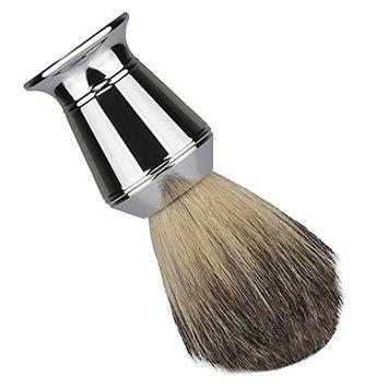 Men's Shaving Brushes, Bestpriceam Luxury 100% Pure Badger Hair Shaving Brush Alloy Handle Best Shave Barber (Silver A)