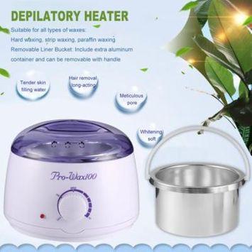 Electric Hot Wax Heater with 400g Hard Wax Beans & 10pcs Wax Applicator Sticks