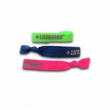 Lifeguard Bracelet Hair Bands Adjustable 3-Pack (Neon Blue-Neon Green-Neon Pink)