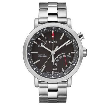 Timex Unisex TW2P99000ZA Metropolitan+ Silver-Tone Stainless Steel Bracelet Watch