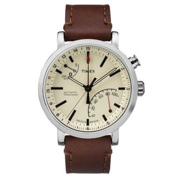 Timex Unisex TW2P92400ZA Metropolitan+ Brown Stitched Leather Strap Watch