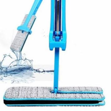 DZT1968 Useful Double-Side Flat Mop Hands-Free Washable Mop Home Cleaning Tool Lazy