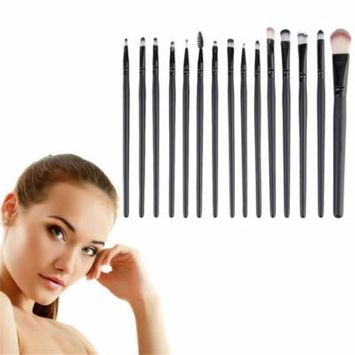 Eye Shadow Foundation Eyebrow Lip Brush Makeup Tools 15 pcs/Sets Cosmetic Kits